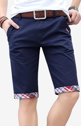 休闲短裤男夏天潮修身5分五分裤